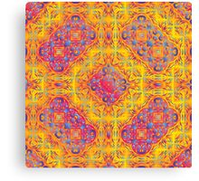Psychedelic jungle kaleidoscope ornament 18 Canvas Print