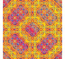 Psychedelic jungle kaleidoscope ornament 18 Photographic Print