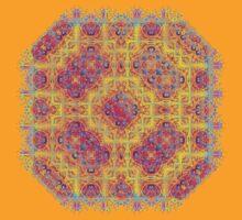 Psychedelic jungle kaleidoscope ornament 18 T-Shirt
