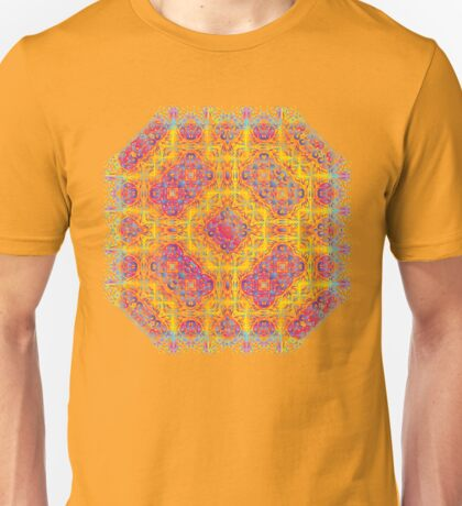 Psychedelic jungle kaleidoscope ornament 18 Unisex T-Shirt