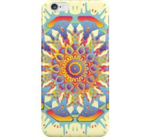 Psychedelic jungle kaleidoscope ornament 19 iPhone Case/Skin