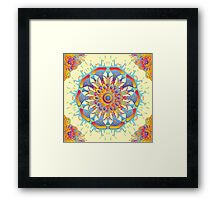 Psychedelic jungle kaleidoscope ornament 19 Framed Print