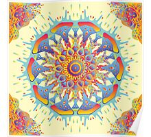 Psychedelic jungle kaleidoscope ornament 19 Poster