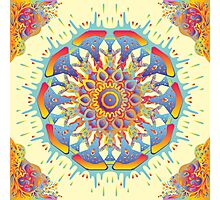 Psychedelic jungle kaleidoscope ornament 19 Photographic Print