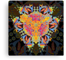 Psychedelic jungle kaleidoscope ornament 20 Canvas Print