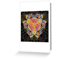 Psychedelic jungle kaleidoscope ornament 20 Greeting Card
