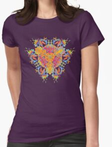 Psychedelic jungle kaleidoscope ornament 20 Womens Fitted T-Shirt