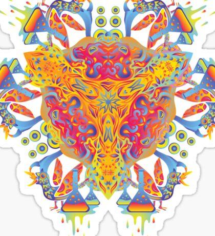 Psychedelic jungle kaleidoscope ornament 20 Sticker