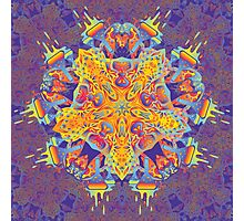 Psychedelic jungle kaleidoscope ornament 21 Photographic Print