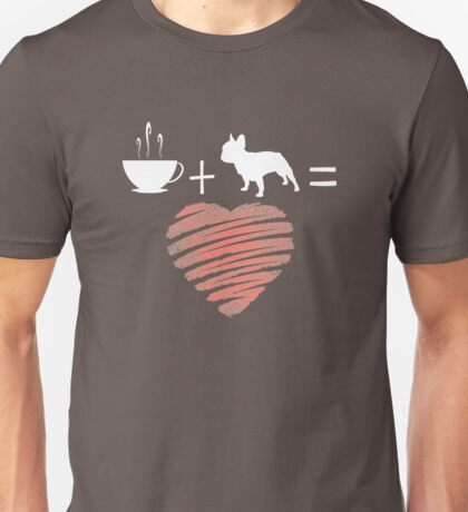 Frenchie and Coffee Love Tee Unisex T-Shirt