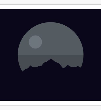 Death Star Mountains Sticker