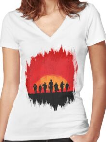 Red Dead Redemption 2  Women's Fitted V-Neck T-Shirt