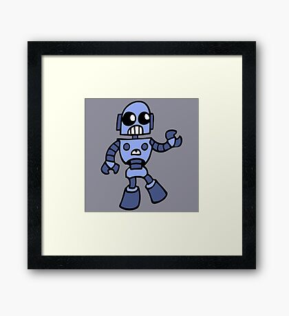 arcade robot gaming gamer funny geek  Framed Print