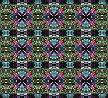Colorful Abstract Symmetry by perkinsdesigns