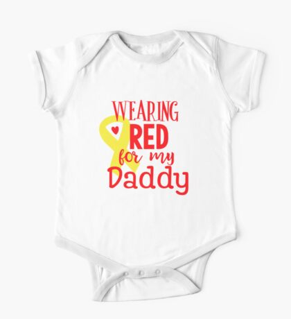 Wearing Red For My Daddy One Piece - Short Sleeve