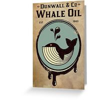 Wundall & Co Whale Oil Greeting Card