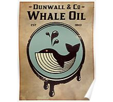 Wundall & Co Whale Oil Poster