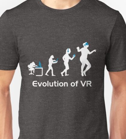 Evolution of Man Virtual Reality VR Funny Gaming Top Unisex T-Shirt