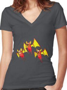 Magibat Women's Fitted V-Neck T-Shirt