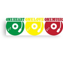 One Heart One Love One Music Canvas Print