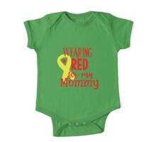 Wearing Red For My Mommy One Piece - Short Sleeve
