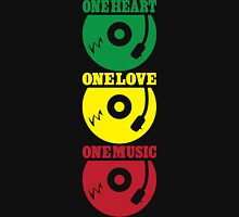 One Heart One Love One Music Unisex T-Shirt