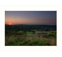 Norland moor sunset Art Print