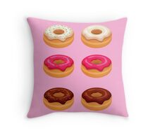 My Six Pack... of Donuts Throw Pillow