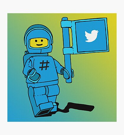Twitter Benny - Social Media Inspired Lego Photographic Print