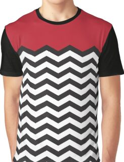 Twin Peaks Black Lodge Floor Black White Red Graphic T-Shirt