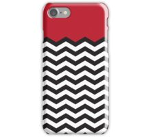 Twin Peaks Black Lodge Floor Black White Red iPhone Case/Skin