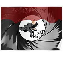Tin Tin vs James Bond Poster