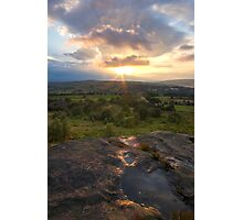 Sunset over Norland moor Photographic Print