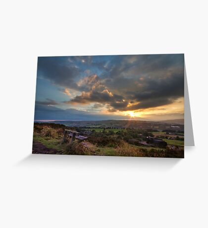 Beautiful Sunset over Norland moor  Greeting Card