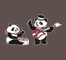 White Stripe Pandas Kids Clothes