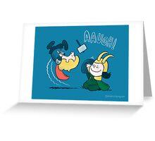 Loki's nuts Greeting Card