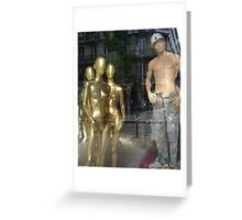 How much is that plumber in the window? Greeting Card