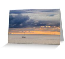 Dawn golden sky  Greeting Card