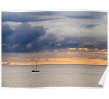 Dawn golden sky  Poster