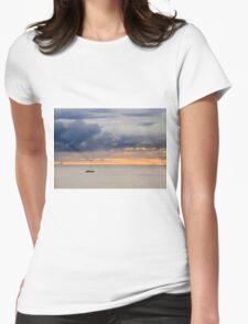 Dawn golden sky  Womens Fitted T-Shirt