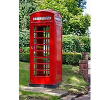 Call Home : - Red Telephone Box Photographic Print