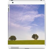 Green field blue sky and trees iPad Case/Skin