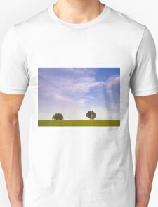 Green field blue sky and trees Unisex T-Shirt