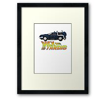 Nerd things - tardis delorean mash up Framed Print