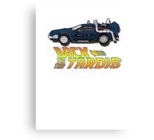 Nerd things - tardis delorean mash up Canvas Print