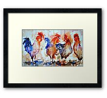 Four Cocks Framed Print