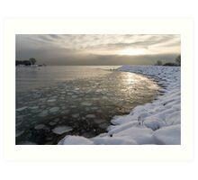 Mini Ice Floes on the Lake Art Print