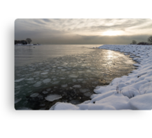 Mini Ice Floes on the Lake Canvas Print