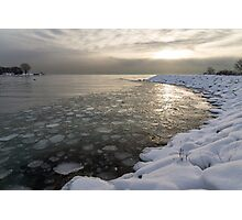 Mini Ice Floes on the Lake Photographic Print
