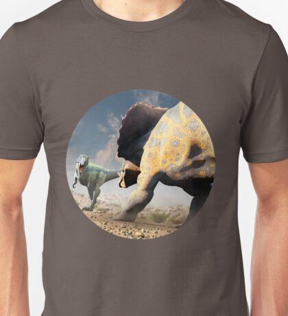 Confrontation - Tyrannosaurus Versus Triceratops Unisex T-Shirt